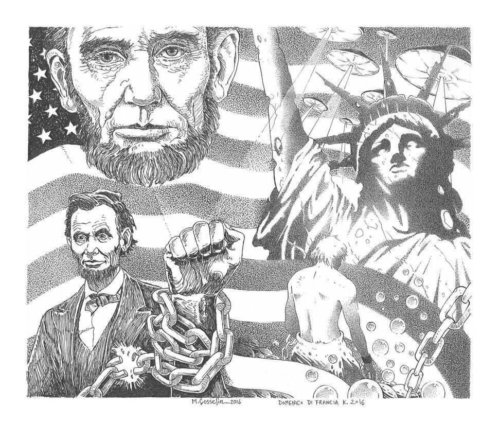 ANACHROPIA, Abraham Lincoln Verses The Alilens by marcgosselin