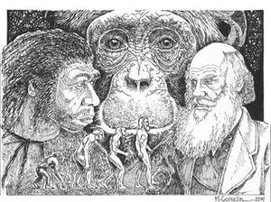 Charles Darwin's Evolution By Marcgosselin