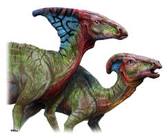 Parasaurolophus by PavelRiha