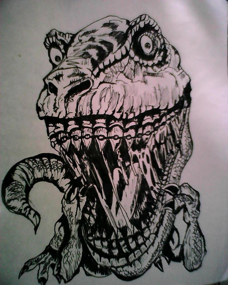 T-rex by SpotSpank
