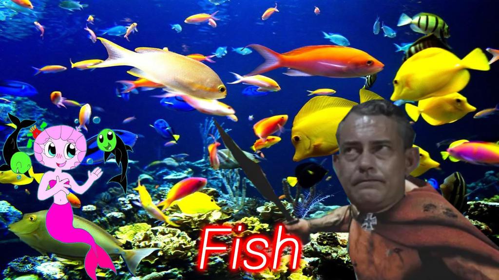 Krebs and his fish (Reupload) by ShermanShermanXFive