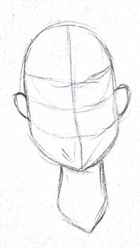 basic headshot lineart