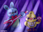 Ducky and Bunny or Chica and Bonnie