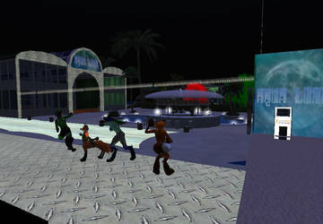 furry dance party by Billythefox