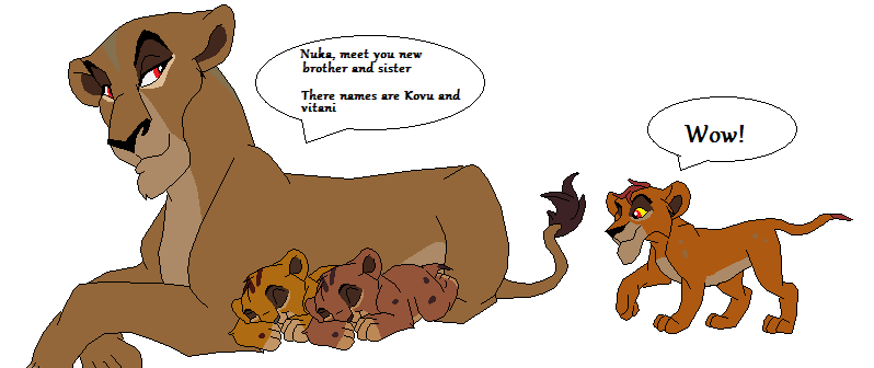 Simba and vitani mating nuka meets kovu and vitani by