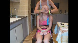 Bound and handgagd in chair 2