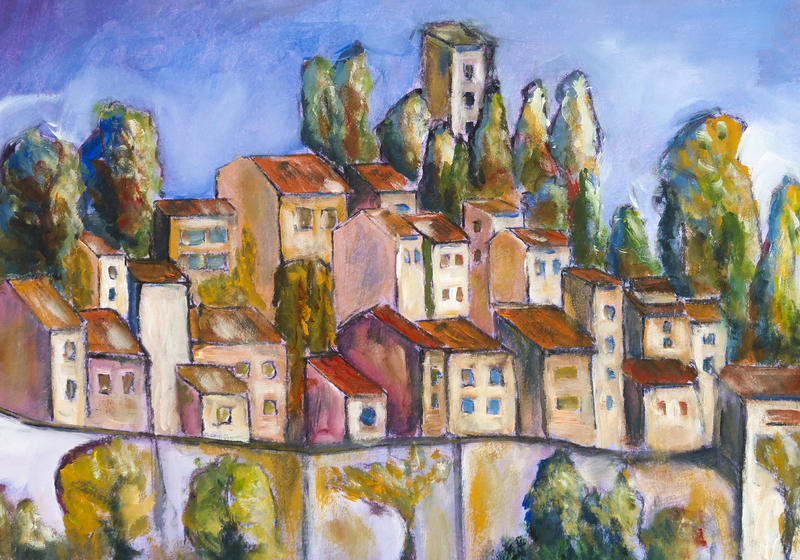 The village behind the wall