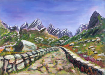 The ancient mountain path to Italy by rollarius55