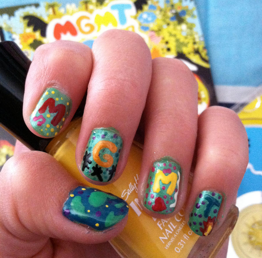 MGMT Nails by originofemilie on DeviantArt