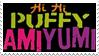 Puffy AmiYumi logo stamp by VapinHotPink