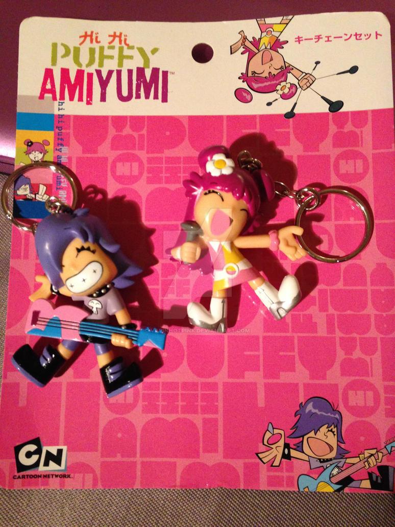 Hi Hi Puffy AmiYumi keychains by DarkRoseDiamond123