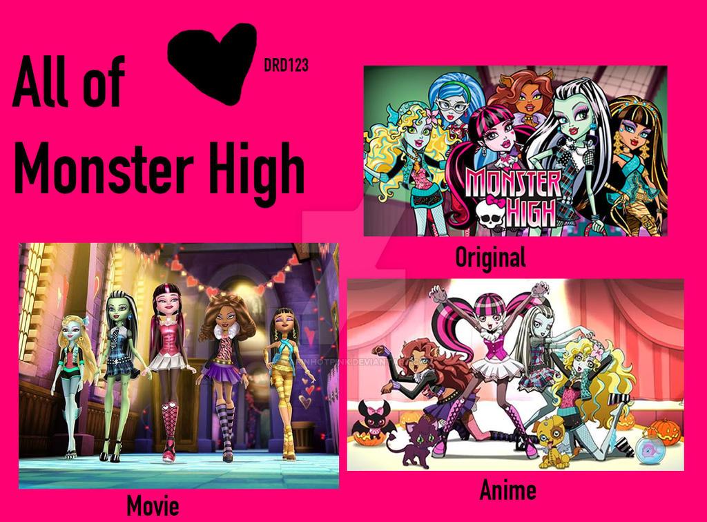 All styles Monster High by DarkRoseDiamond123
