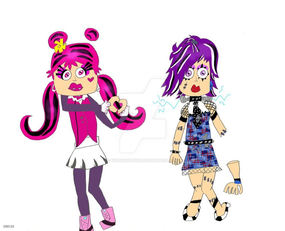 Ami and Yumi being Monster High by DarkRoseDiamond123