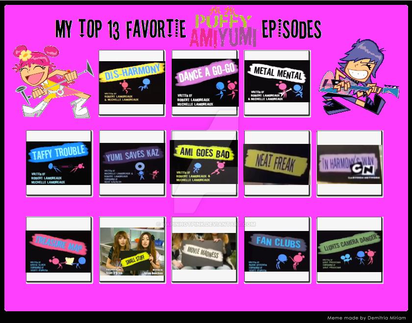 13 favorite Hi Hi Puffy AmiYumi episodes by DarkRoseDiamond123