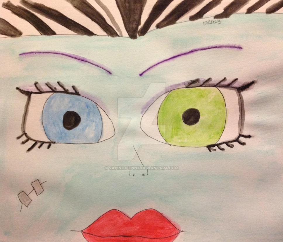 Frankie Stein's eyes watercolor by DarkRoseDiamond123