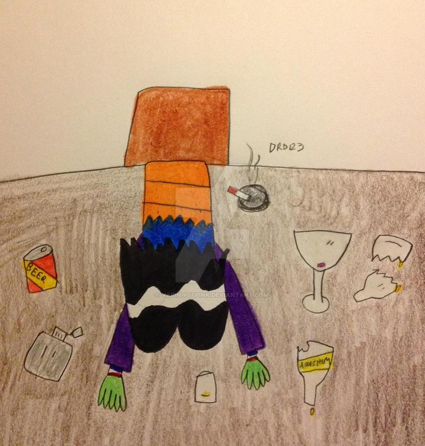 Drunk Ace by DarkRoseDiamond123