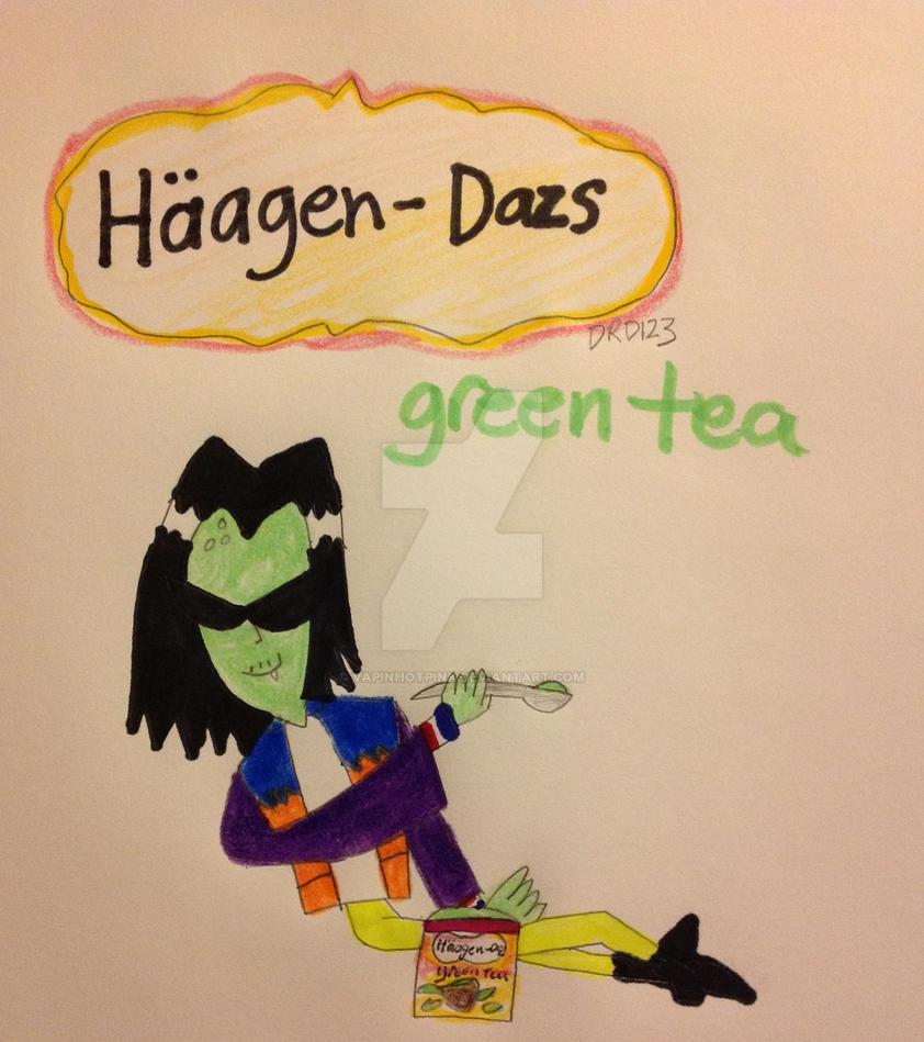 Ace enjoys Haagen Dazs green tea by DarkRoseDiamond123