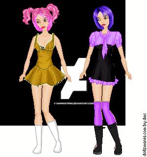 Dollzmania Ami and Yumi (Cherry doll dress up) by DarkRoseDiamond123