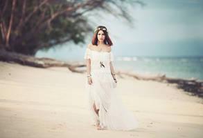 white sand beach by bwaworga