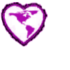 Americas purple heart shaped stamp by Aztecatl13