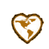 Americas brown heart stamp by Aztecatl13