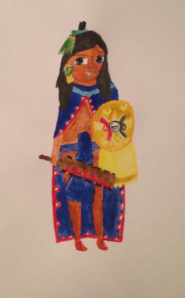 Mexica warrior by Aztecatl13