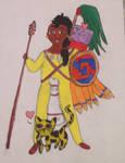 Quachichictli Warrior by Aztecatl13