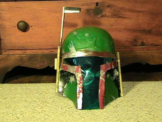 Boba Fett helmet: Scratchbuilt