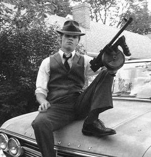 1930's mobster cosplay