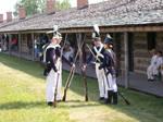 Inside the stockade