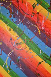 Rainbow Paint Splatter Texture 2 by HollyDGF