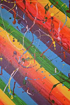 Rainbow Paint Splatter Texture 2