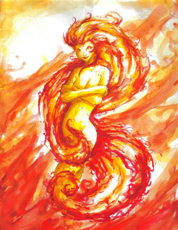 Fire Elemental Female by bobbytwoshoes on DeviantArtFemale Fire Elemental