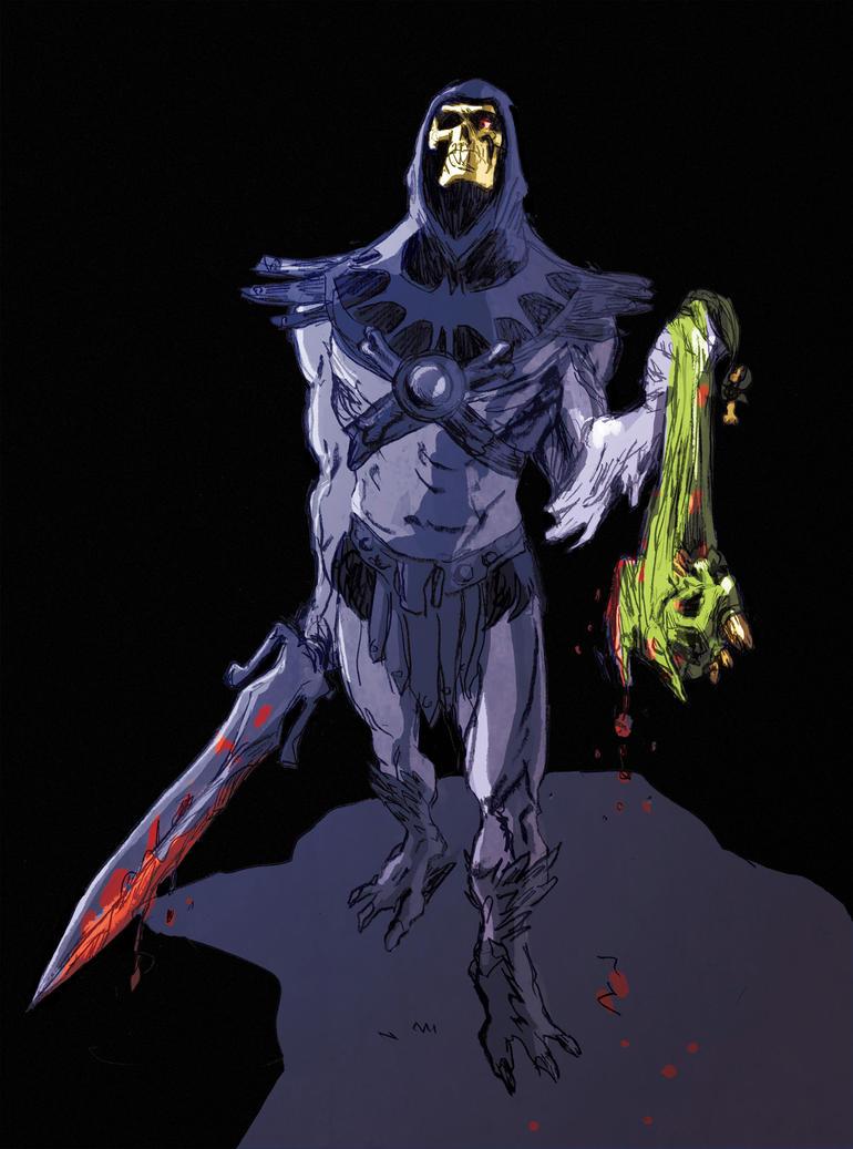 Skeletor fan art by AntoineDode