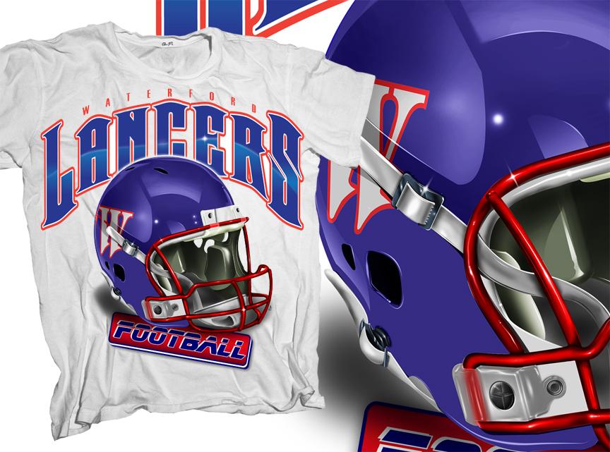 lancer football t shirt design by sportees - Football T Shirt Design Ideas