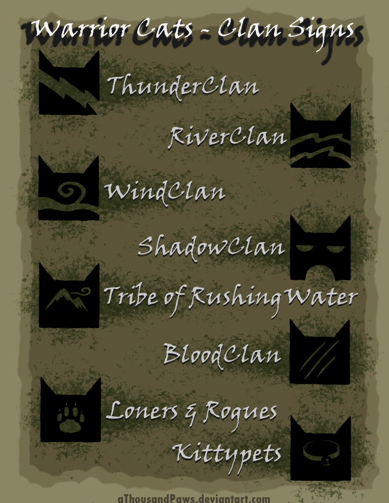 Made Up Warrior Cat Clan Names - All About Foto Cute Cat