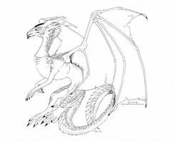Free Dragon Lines by creanima