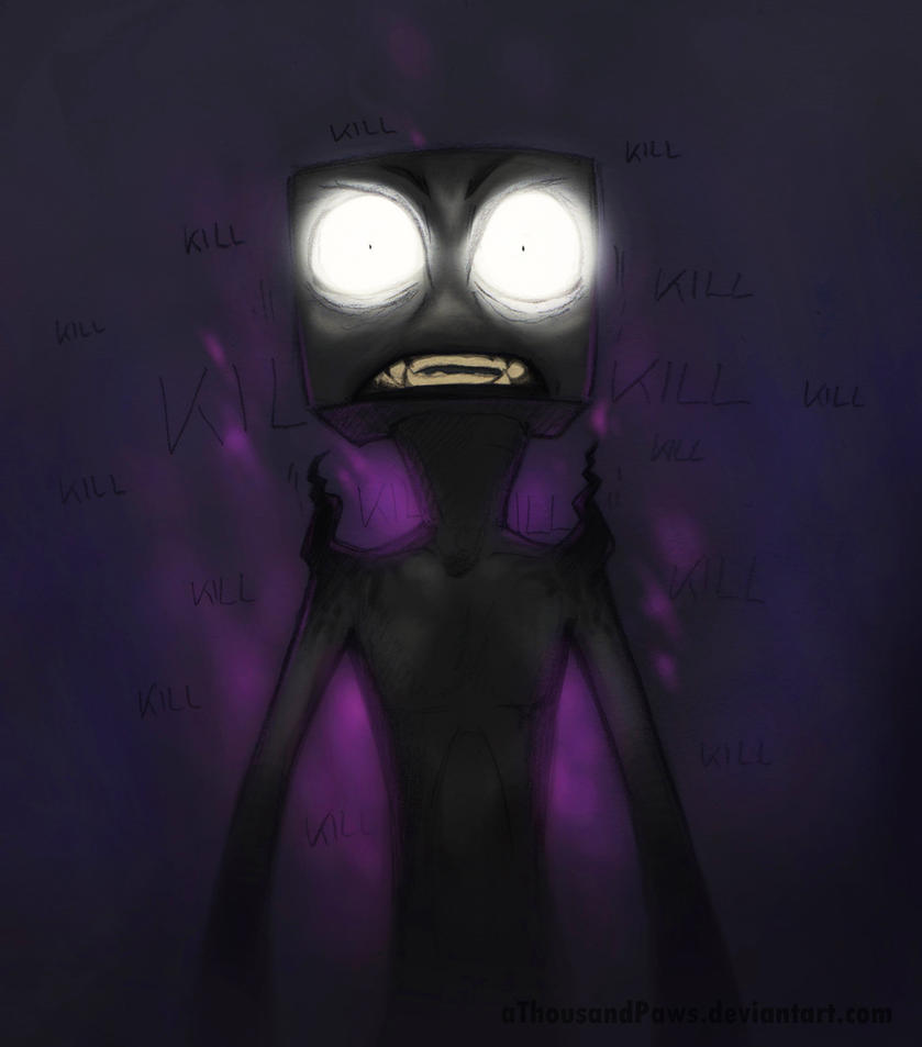 Watching the Enderman by creanima