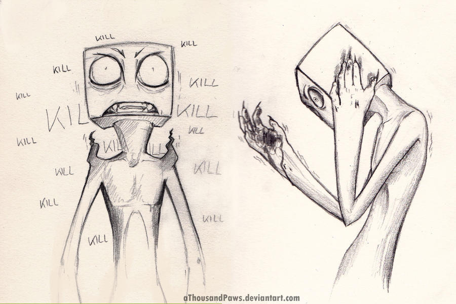 Enderman Sketches by creanima