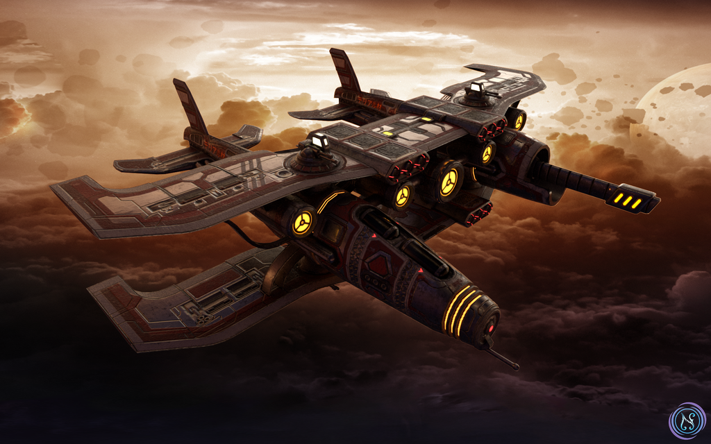 Deicide-class Artillery Bomber by Nyctaeus