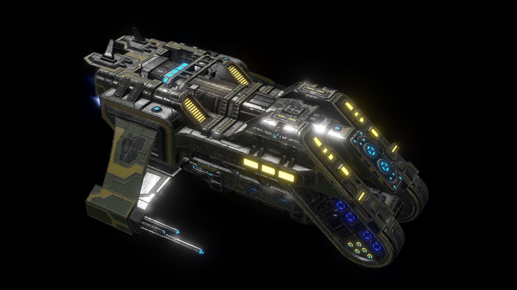 Anteros Transport Ship - Ingame by Nyctaeus