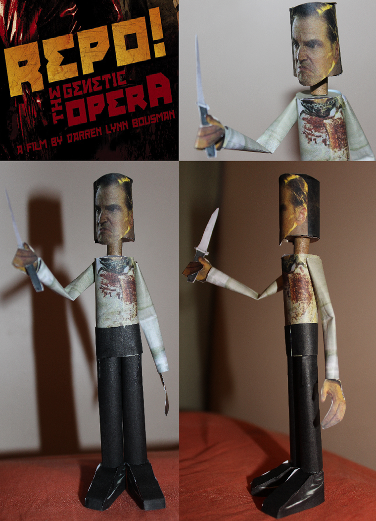 Luigi Largo from Repo! Papercraft figure by ViluVector