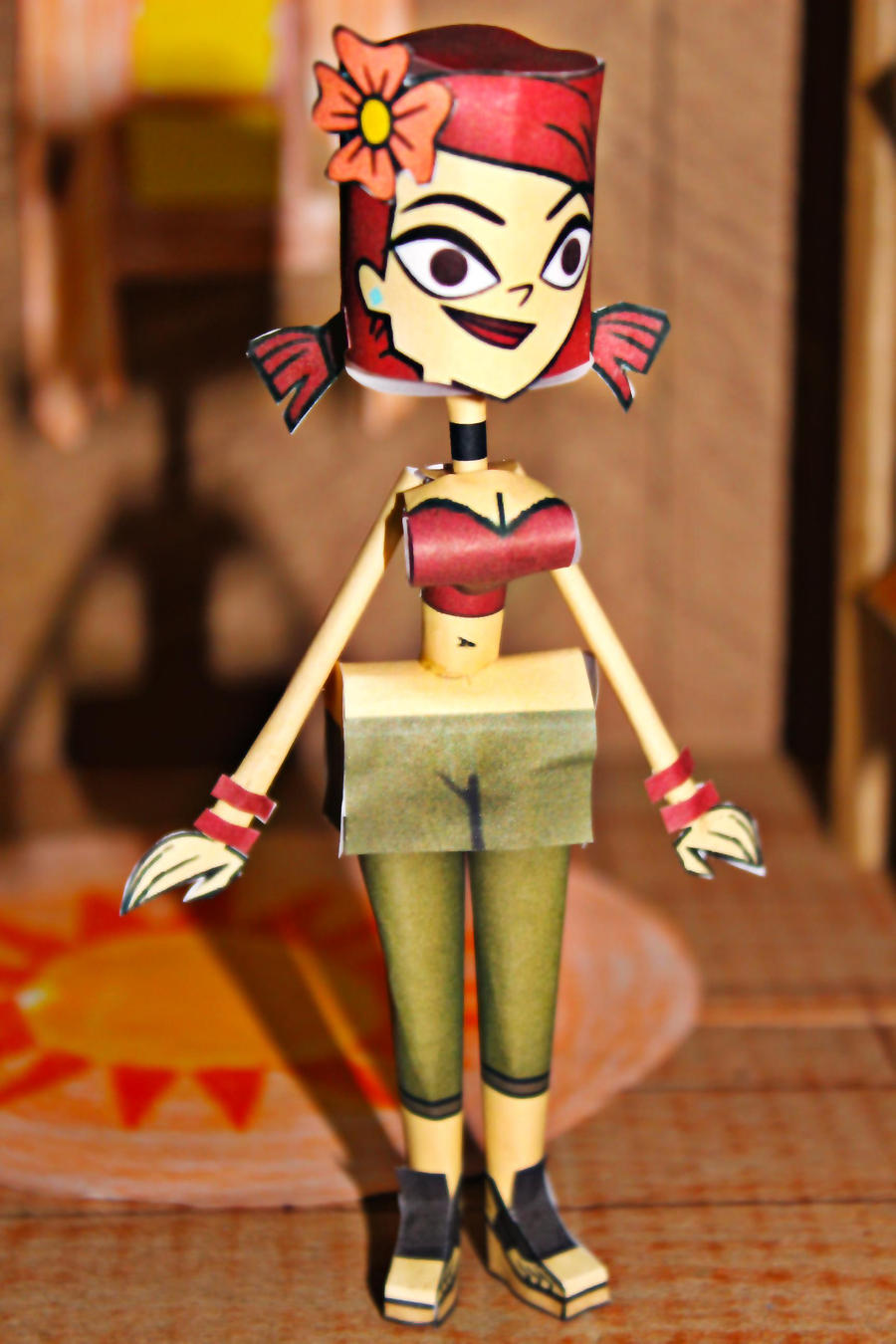 Zoey TDROTI from Total Drama Papercraft by ViluVector