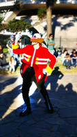 Dr Eggman cosplay in a Picnic 2
