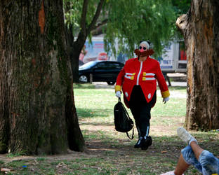 Dr Eggman cosplay walking around the Picnic by ViluVector