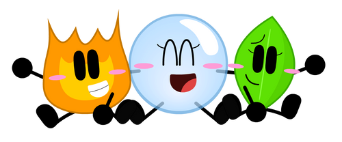 (BFDI) The Cute Finaltrio by Patiphonboonkhum