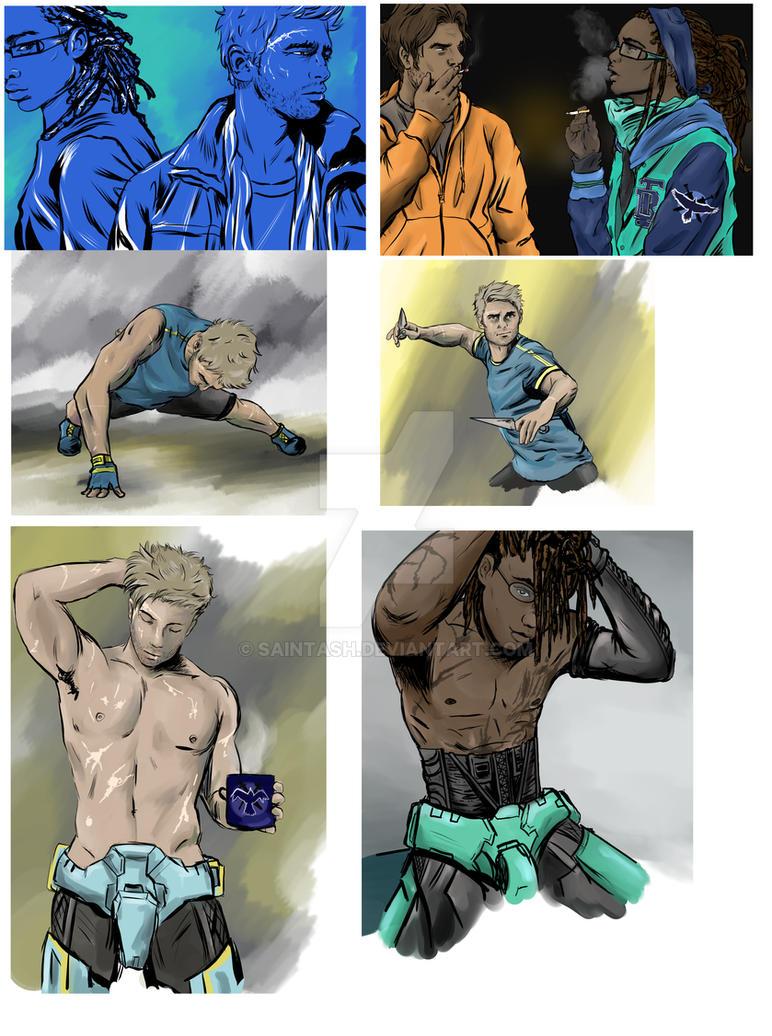 Random Red vs Blue Tumblr art Dump 2 by SaintAsh