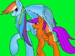 Rainbow Dash and Scootaloo Digitalize