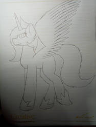 Young Celestia Pen Sketch