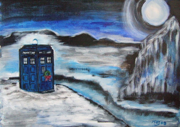 http://mazzi294.deviantart.com/art/TARDIS-In-Ice-at-Christmas-102266490